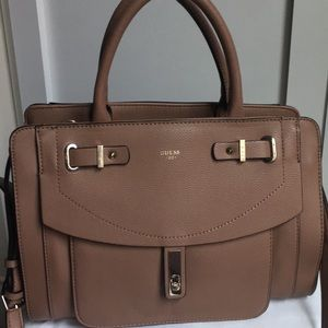 Like new taupe Guess purse